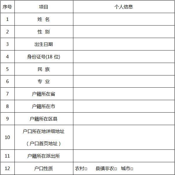 石家庄白求恩医学院注册学籍新生表
