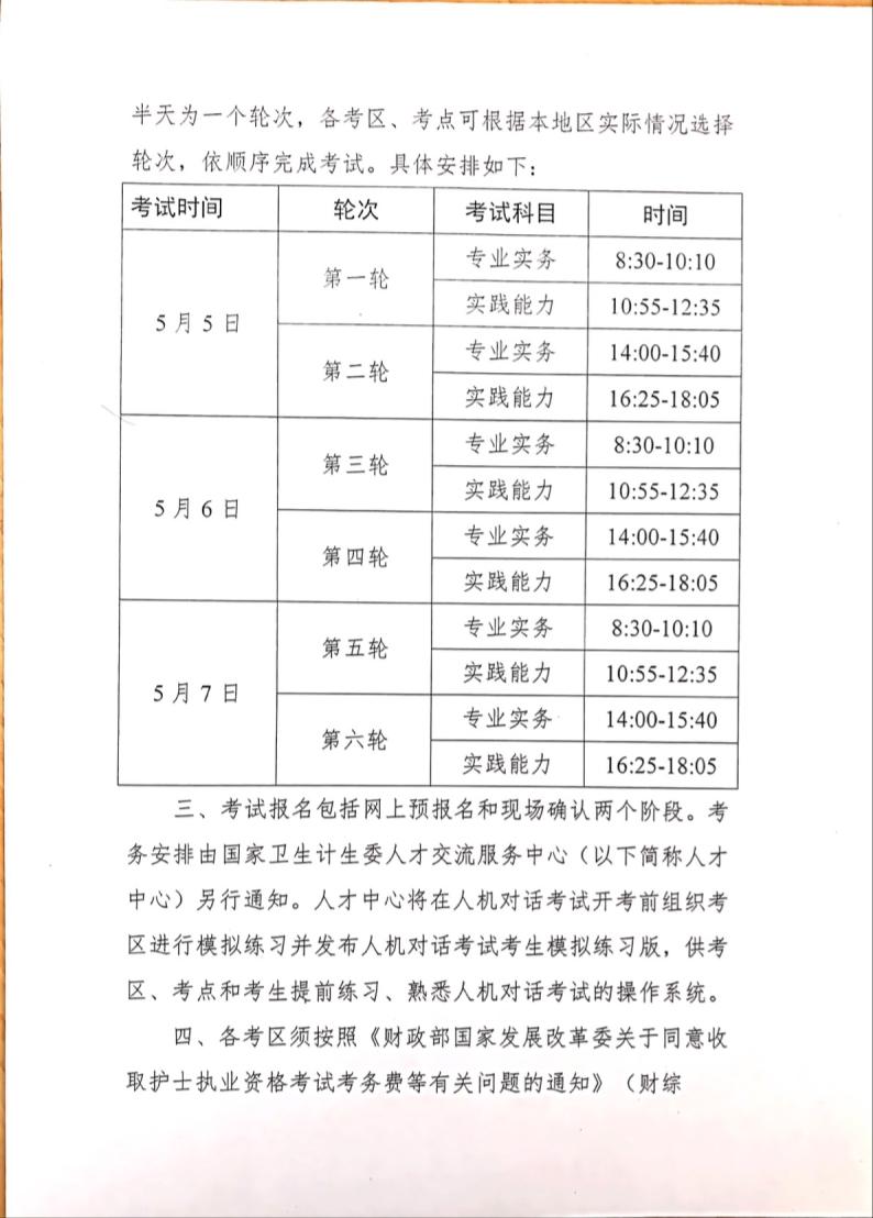 2018年护士资格考试时间确定为5月5日-7日